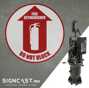 SignCast PRO Fire Extinguisher Do Not Block Sign