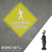 SignCast Jr. Pedestrian Crossing Sign