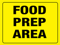 Food Prep Area Floor Sign (Rectangle)
