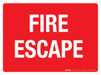 Fire Escape Wall Sign