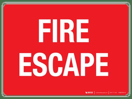 Fire Escape Wall Sign