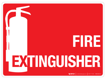 Fire Extinguisher Wall Sign