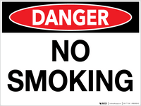 Danger: No Smoking - Wall Sign