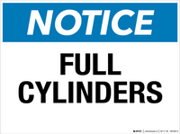 Notice: Full Cylinders - Wall Sign