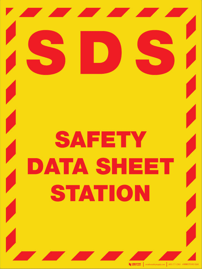 Sds Safety Data Sheet Station Wall Sign Creative Safety