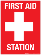 First Aid Station - Wall Sign