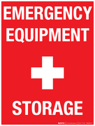 Emergency Equipment Storage - Wall Sign