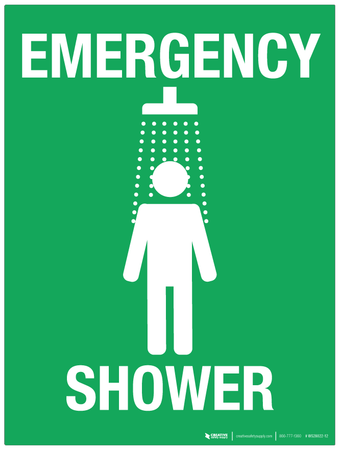 Emergency Shower - Wall Sign