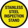 Stainless Steel Inspection Stand Floor Sign