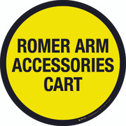 Romer Arm Accessories Cart Floor Sign