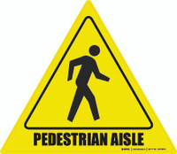 Pedestrian Aisle Floor Sign