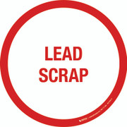 Lead Scrap Floor Sign