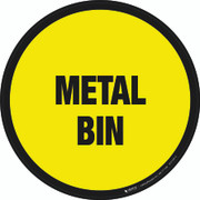 Metal Bin Floor Sign
