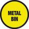 Metal Bin Floor Sign