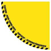 Half Door Swing (VORSICHT - SCHWINGTÜRBEREICH) Floor Sign
