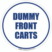 Dummy Front Cart Floor Sign