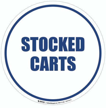 Stocked Carts Floor Sign