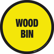 Wood Bin Floor Sign