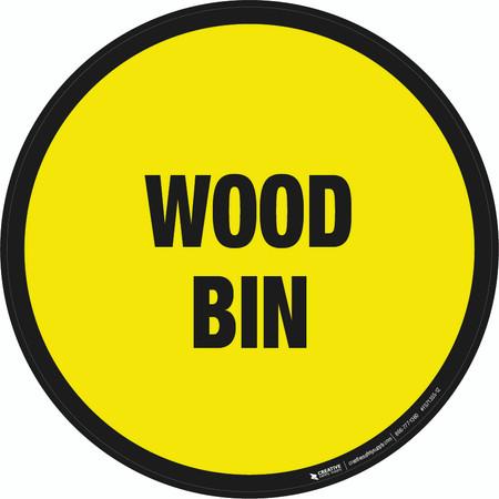 Wood Bin Floor Sign