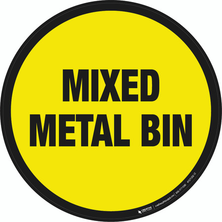 Mixed Metal Bin Floor Sign