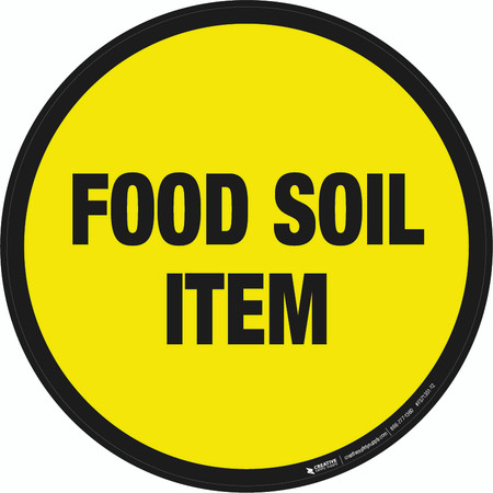 Food Soil Item Floor Sign