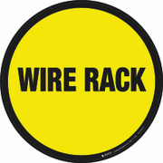 Wire Rack Floor Sign