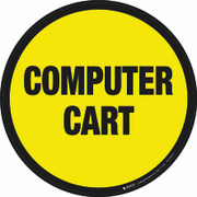 Computer Cart Floor Sign