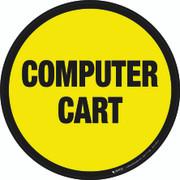 Computer Cart Floor Sign