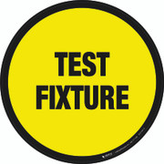 Test Fixture Floor Sign
