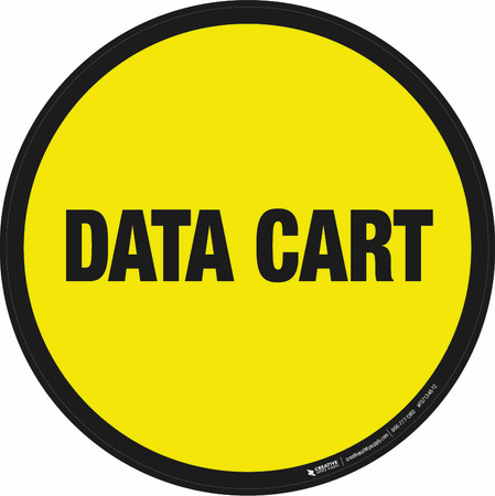 Data Cart Floor Sign