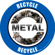 Recycle Metal Real Floor Sign