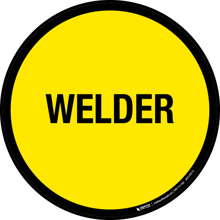 Welder Floor Sign