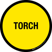 Torch Floor Sign