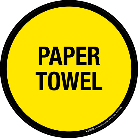 Paper Towel Floor Sign