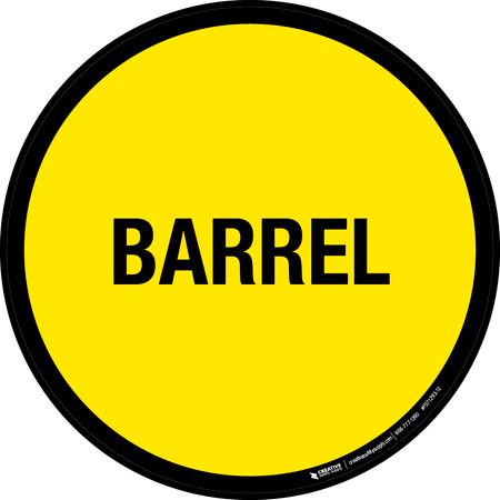 Barrel Floor Sign