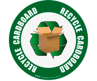 Recycle Cardboard Floor Sign