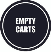 Empty Carts Floor Sign