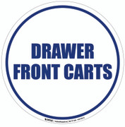 Drawer Front Carts Floor Sign