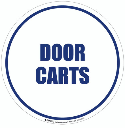 Door Carts Floor Sign