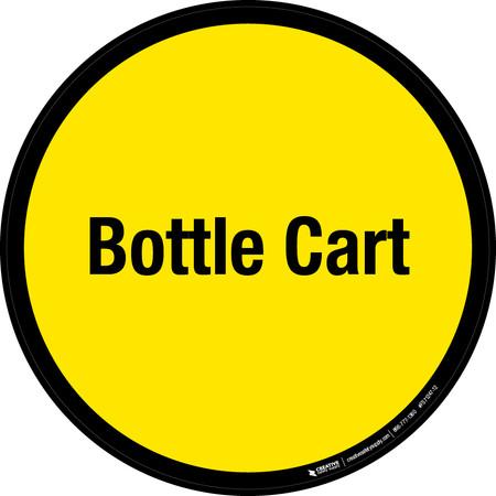 Bottle Cart Floor Sign