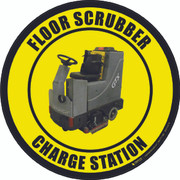 Floor Scrubber Charge Station Real Floor Sign