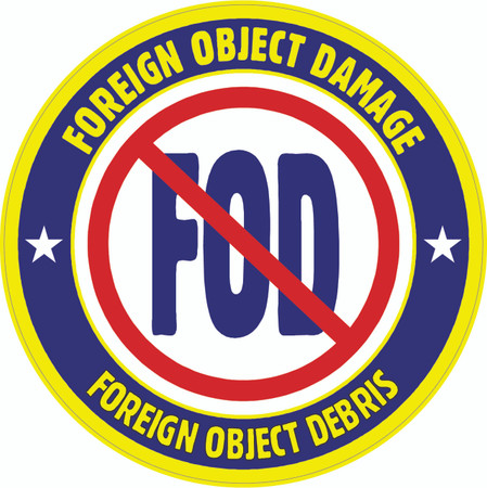 No FOD Floor Sign