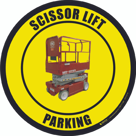 Scissor Lift Parking (Real) Floor Sign
