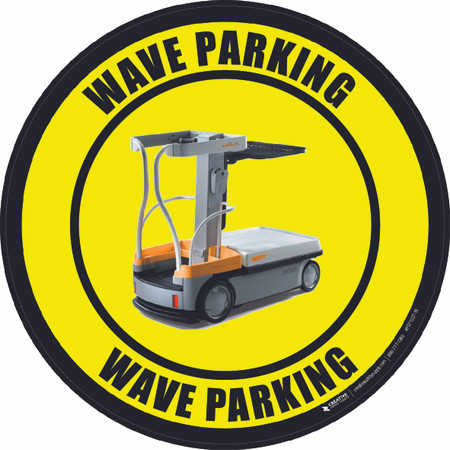 WAVE Parking Floor Sign