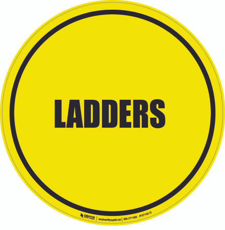 Ladders Floor Sign