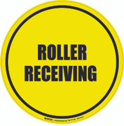 Roller Receiving Floor Sign