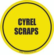Cyrel Scraps Floor Sign