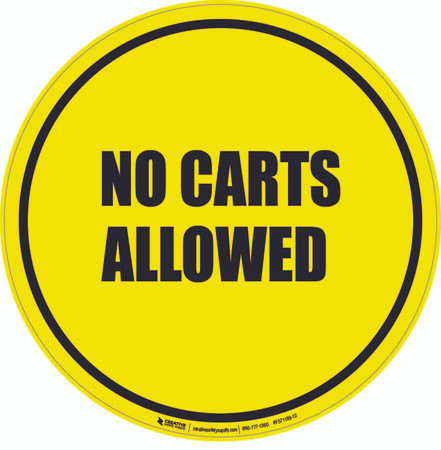 No Carts Allowed Floor Sign
