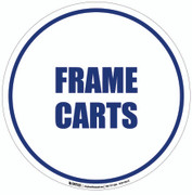Frame Carts Floor Sign