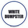 White Dumpster Floor Sign